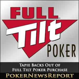 Tapie Backs Out of Full Tilt Poker Purchase