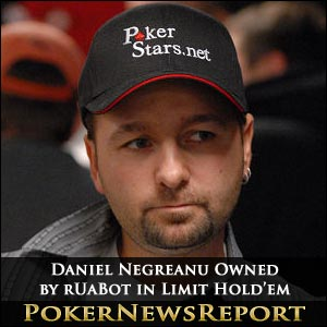 Daniel Negreanu Owned by rUaBot in Limit Hold'em Challenge