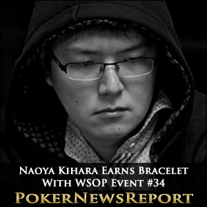 Naoya Kihara Earns Bracelet With WSOP Event #34