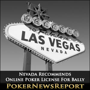 Online Poker License for Bally Recommended by Nevada