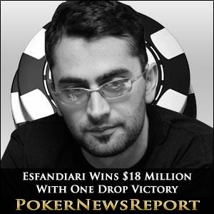 Antonio Esfandiari Works His Poker Magic for One Drop Victory