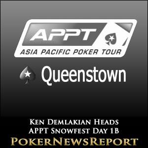 Ken Demlakian Heads Day 1B of APPT Snowfest