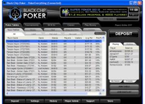The Lobby at Black Chip Pokerr