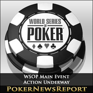 WSOP Main Event Action Underway