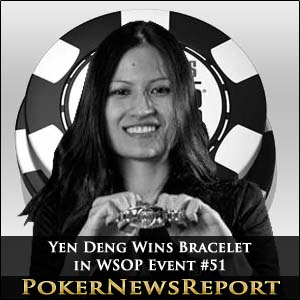 Yen Dang Wins Bracelet in WSOP Event #51