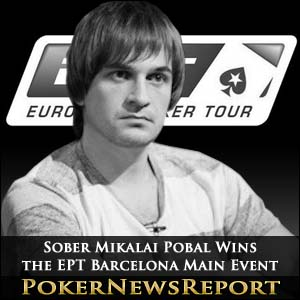 Sober Mikalai Pobal Wins the EPT Barcelona Main Event