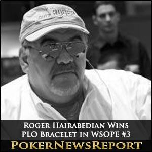 Roger Hairabedian Wins PLO Bracelet in WSOPE #3