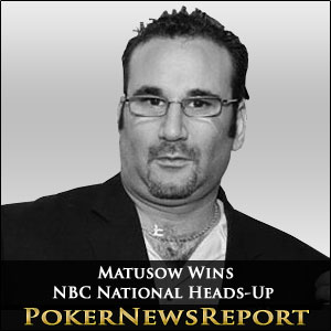 Matusow Wins Battle of the Old Boys in NBC Heads-Up