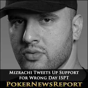 Grinder Mizrachi Tweets Up Support for Wrong Day ISPT