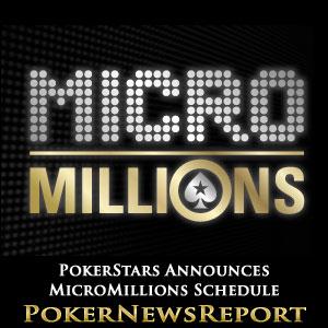 PokerStars Announces MicroMillions Schedule