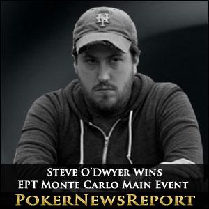 Steve O'Dwyer Wins EPT Monte Carlo main Event