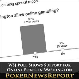 WSJ Poll Shows Support for Online Poker in Washington