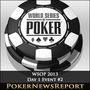 WSOP 2013 Event #2 Day 1