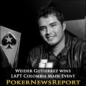 Weider Gutierrez wins LAPT Colombia Main Event