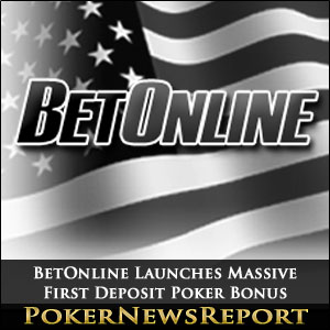 BetOnline Launches Massive First Deposit Poker Bonus