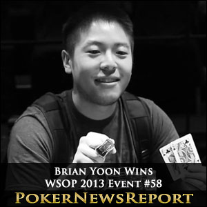 Brian Yoon Wins WSOP 2013 Event #58