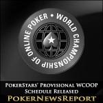 PokerStars' Provisional WCOOP Schedule Released