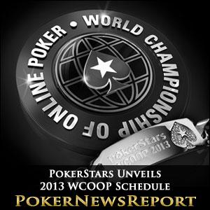 PokerStars Unveils 2013 World Championship of Online Poker Schedule