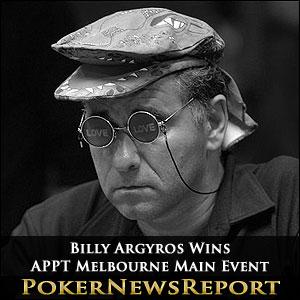 Billy Argyros Wins APPT Melbourne Main Event