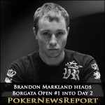 Markland heads Incredible Borgata Open #1 into Day 2