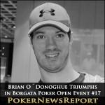 Brian O´Donoghue Triumphs in Borgata Poker Open Event #17