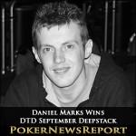 Daniel Marks Runs Hot to Take DTD September Deepstack