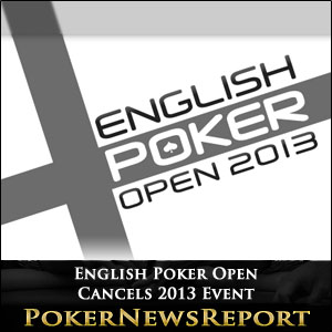 "The English Poker Open - won last year by Mickey Petersen - has been a popular event on the London poker calendar and has formed part of the London Poker Festival since 2009. Last year´s event attracted 138 players to the Fox Club in Shaftesbury Avenue and created a prize pool of £276,000. This year´s tournament was scheduled to be played at the Aspers Casino in Stratford from September 27th to September 29th, and only two weeks ago organisers were bullish about the event - issuing a press release that said they were anticipating a £500,000 prize pool. However, without any warning, announcements were simultaneously posted on the websites of englishpokeropen.com and sponsors raketherake.com stating that the event had been cancelled ""due to unforeseen scheduling issues which have arisen"". Unforeseen Scheduling Issues? Organisers of the event were unwilling to shed more light on what ""scheduling issues"" had actually been ""unforeseen"", although they denied any link between the cancellation of the English Poker Open and any other events that were taking place on the same dates. Also scheduled for the same dates are the £275.00 buy-in UKIPT PokerStars LIVE Series taking place at the Hippodrome and the £165.00 buy-in 888 Poker SuperStack at Genting Casino´s ""Mint"" Poker Club in Cromwell Street; however, these events have been known about for a long time. A Tweet that was sent out by the organisers confirming the cancellation of the event only referred disappointed festival-goers to the message on the EPO website which read:- It was a tough decision to postpone the EPO, but on balance the right choice as we want to ensure that players at the event have the sort of top quality experience that they expect from the English Poker Open brand. When rescheduled in 2014, information about The English Poker Open 2014 will be announced on the English Poker Open website. Is There a Future for a London Poker Festival? The cancellation of the English Poker Open is more nail in the coffin of the London Poker Festival. ""Poker in the Park"" died a death in 2011 and the venue/dates for the British Poker Awards - previously a highlight of the Festival - have yet to be announced, even though voting has been open for several weeks. PokerStars are promoting their joint UKIPT/EPT stop at the Grand Connaught Rooms between October 2nd and October 18th as the ""PokerStars EPT London Festival"", but with no Unibet Open in London this year, and the GukPT Grand Final re-scheduled for November, it looks like PokerStars and 888 Poker have the London autumn season to themselves."