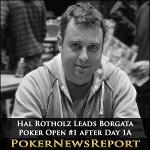 """Native New Yorker Hal Rotholz survived a long and brutal day to lead the Day 1A of the $2 million guaranteed Borgata Poker Open #1 in Atlantic City.   An incredible 1,670 players entered or re-entered Event #1 of the $560.00 buy-in Borgata Poker Open yesterday and, after 18 Levels of play (6 @ 30mins / 12 @ 40mins), just 184 remained. On top of the pack was New York poker player Hal Rotholz, who made the short journey to Atlantic City worthwhile by collecting a $2,000 bonus for being chip leader at the end of the day.  Rotholz bagged up 628,000 chips at the end of the day – just twelve big blinds ahead of second placed Eric Henry (who picked up a $1,000 bonus for being second in chips), with the average chip count around 182,000 chips – not a lot considering that, when Day 2 starts on Thursday, the blinds will be 4,000/8,000 with an ante of 1,000 chips.  Queues Form to Re-Enter for Day 1B  Such was the popularity of this event that queues started forming from early evening onwards to re-enter the tournament on Day 1B. Day 1A re-entries were allowed up until the end of Level 9 but, with the likelihood that most players surviving until Day 2 will cash in the event, anybody busting out during the later levels was joining the queue as quick as they could.  At one point it was taking an hour and twenty minutes to get to the cashier´s desks to re-enter, and the Borgata management took the sensible decision to open up five cashier´s windows and allow re-registration throughout the night. Advice to anybody who has not yet entered or re-entered Event #1 of the Borgata Poker Open is to get there early!   Main Event another Twelve Days Away  Event #1 of the Borgata Poker Open is the first of twenty-five """"main"""" tournaments to be played in the Borgata Poker Open schedule (there are a further thirty side events and qualifiers). The $3 million guaranteed WPT Borgata Poker Open Main Event (Event #21) does not start until Sunday 15th September and there are a host of other valuable """