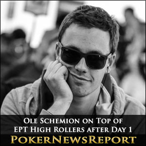 Ole Schemion on Top of EPT High Rollers after Day 1
