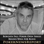 Borgata Fall Poker Open Series Begins Well for Klein