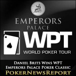 Daniel Brits Wins WPT Emperors Palace Poker Classic