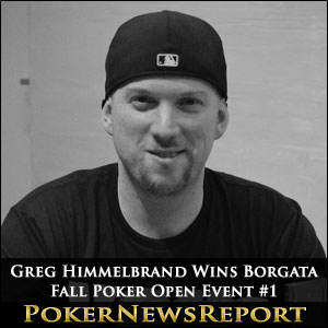 Greg Himmelbrand Takes Borgata Fall Poker Open Event #1
