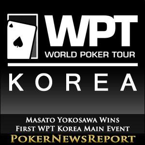 Masato Yokosawa is Winner of First WPT Korea Main Event