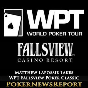 Matthew Lapossie Takes WPT Fallsview