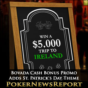 Bovada Cash Bonus Promo Adds St. Patrick's Day Theme