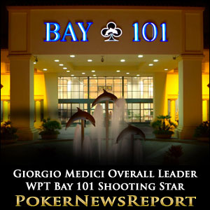 Giorgio Medici Overall Leader in WPT Bay 101 Shooting Star