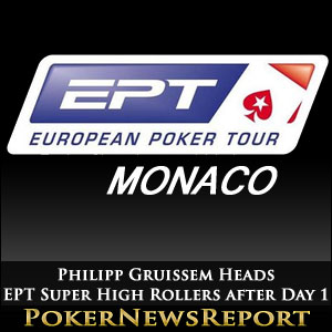 Philipp Gruissem Heads EPT Super High Rollers after Day 1
