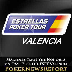 Martinez Takes the Honours on Day 1B of the ESPT Valencia
