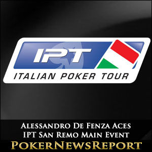 Alessandro De Fenza Aces IPT San Remo Main Event
