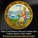 New California Online Poker Bill Likely Ready Next Week