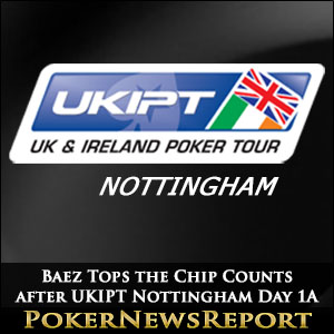 Mauricio Baez Tops the Chip Counts after UKIPT Nottingham Day 1A
