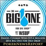 Daniel Colman Wins $15.4 Million in 2014 Big One for One Drop