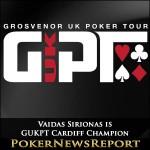Vaidas Sirionas is GUKPT Cardiff Champion