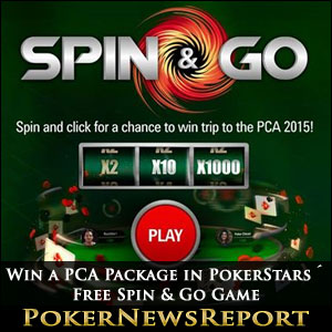 Win a PCA Package in PokerStars´ Free Spin & Go Game