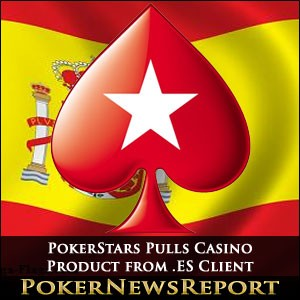 PokerStars Pulls Casino Product from .ES Client