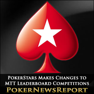 PokerStars Makes Changes to MTT Leaderboard Competitions