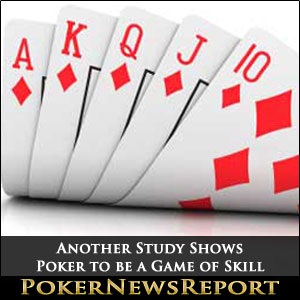 Another Study Shows Poker to be a Game of Skill