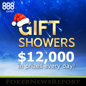 Christmas Gift Showers at 888Poker