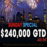 Don´t Miss the $240K Sunday Special at Americas Cardroom