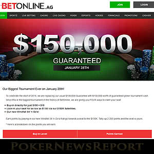 BetOnline $150K Guaranteed